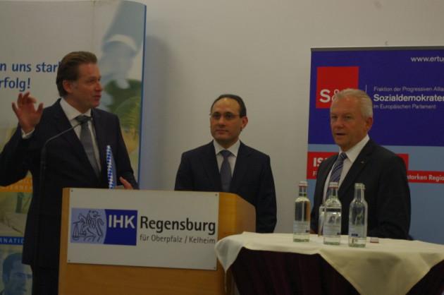 IHK Regensburg, Jürgen Helmes, Ismail Ertug, Rüdiger Grube