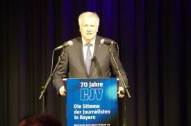 Horst Seehofer, Bayerischer Journalisten-Verband, Regensburg